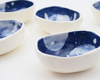 Ceramic Bowl - Trinket Dish - Jewelry Dish - Jewelry Bowl - Ring Dish