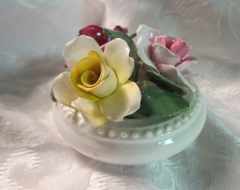Vintage Staffordshire, Bone China Floral, circa 1970s - Offered for use in Upcycling or Multi-Media Projects