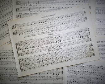 Gorgeous Antique 1870's Victorian Sheet Music