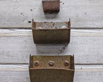 Vintage Industrial Grain Scoop Wall Planter