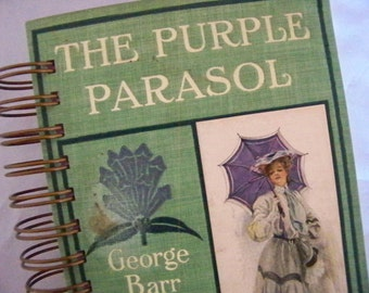 Purple Parasol Victorian novel blank book journal diary
