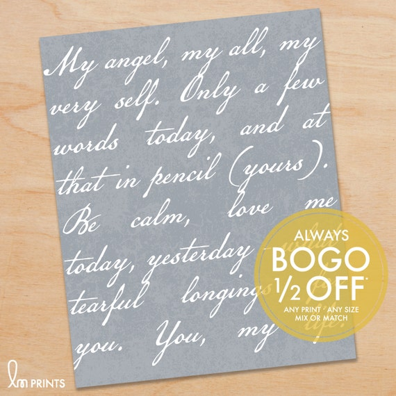 Wedding Vows Print Love Poem Lyrics Script Personalized