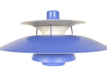 Danish Mid Century Modern PH5 Purple Pendant Lamp by Poul Henningsen