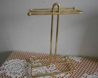 Gold jewelry stand, necklace display, metal jewelry tree or organizer,