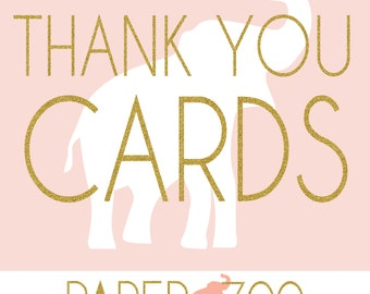 Printable Paper Zoo Thank You Cards
