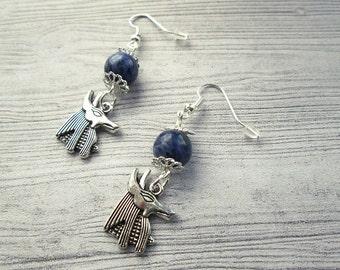 Egyptian God Anubis, God of the Dead, Anubis Earrings, Pagan earrings, Egyptian earrings, Wiccan earrings, Pagan jewelry, Anubis jewelry,