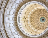 Austin Texas Capital Dome Photograph | Architectural Print | Travel Photography | Lone-Star Home Decor | Office Wall Art | Cream & Gold