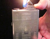 Vintage 1920s Evans Trig-A-Lite Case Lighter Cigarette Case Cigarette Lighter Art Deco Working Lighter Made in USA Very Good Condition RARE