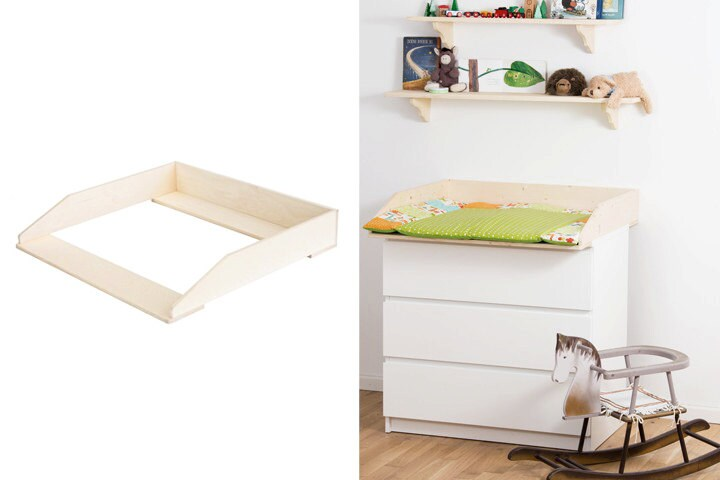 wickelaufsatz f r ikea malm kommode birke. Black Bedroom Furniture Sets. Home Design Ideas