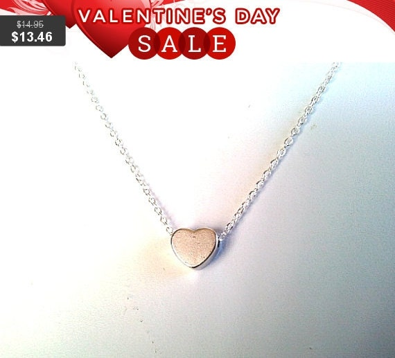 Tiny Heart pendant Necklace, heart charm necklace - lovely gift, graduation gifts,Git for her, Infinity love gift