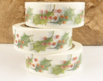 Christmas Holly Berry Washi Tape - 2245