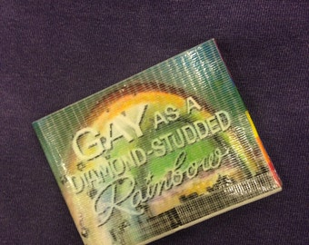 Gay as a diamond Studded Rainbow Gay Pride Duct Tape Wallet