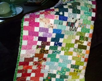 Quilt Kit - Precut Pieces! - Rainbow Trellis Full/Large Throw Size