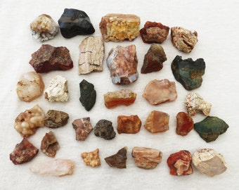 SALE Wild Mountain Oregon Stone Collection Mixed Rock Lot Curiosity Stones Instant Rock Collection