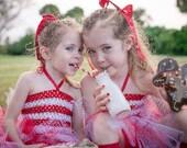 Valentine Tutu Dress, Red Tutu Dress, Red and White Tutu