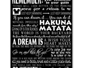 Disney Quotes, on Canvas Wall Art, Red Barn Canvas