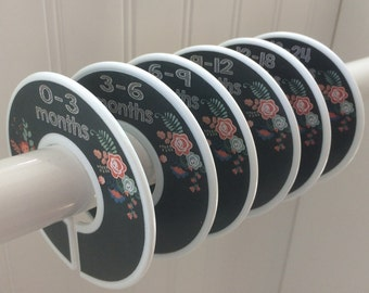 6 Baby Closet Dividers Girl Clothes Dividers Girl Clothes Dividers Closet Organizers Chalkboard Girl Baby Nursery