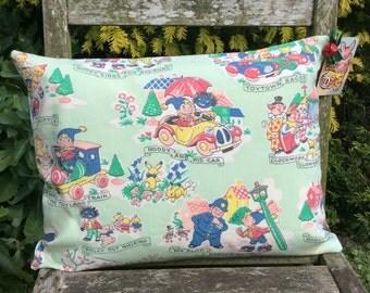 Vintage original Noddy fabric cushion - green