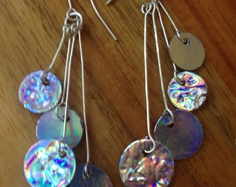 Unique Holographic Earrings, Lightweight and Eye-Catching, 925 Sterling Silver Hooks