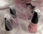 Bridal Veil ~ Mini Liquor Bottle Veil ~ Bridal Shower Favor ~ Wedding Favor ~ Reserved Listing for Laci B.