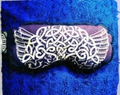 Eye Pillow Celtic Knot with Wings- Herbal Aromatherapy- Relaxing Peaceful Headache Stress Relief Hot Cold Pack Yoga CALM & CLARITY