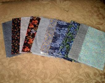 10 Cotton Fabric Fat Quarter in Lavender Shades