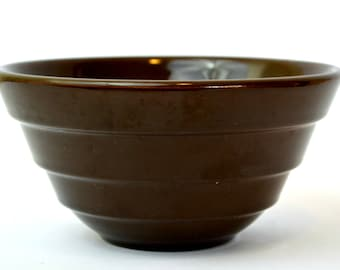 Bauer Pottery Dark Brown Ringware Mixing Bowl #24