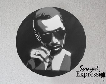 P Diddy Vinyl Record Painting