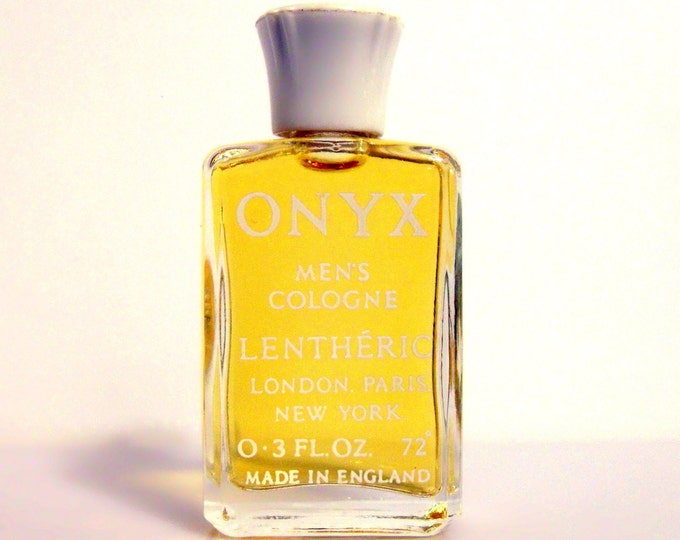 Vintage 1960s Onyx by Lentheric 0.3 oz Cologne Splash Mini Miniature