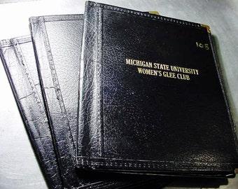 Vintage MSU Michigan State University Glee Club Folder