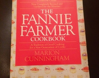 SALE - The Fannie Farmer Cookbook - Marion Cunningham - vintage cookbook - paperback - 1232 pages - bantam books - kitchen - cooking