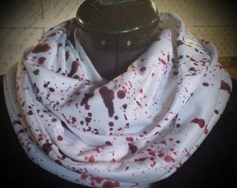 Blood Splatter Infinity Scarf