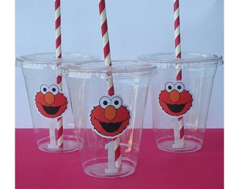 24 - Elmo Party Cups, Elmo Birthday Party, Elmo Tableware, Elmo Decorations, Sesame Street Party