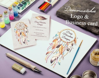 Personalised Dreamcatcher Logo and Business Card Design