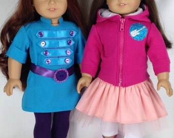 "Fresh Beat Band MARINA Outfit for American Girl Dolls 18"" - Made to Order"