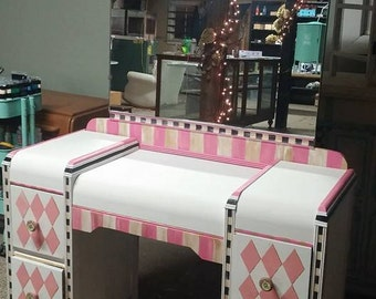 Whimsical Hand Painted Vanity