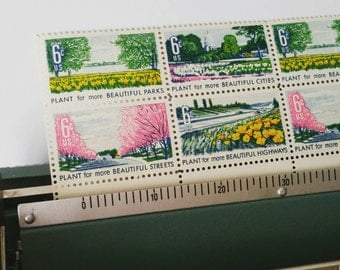 10 Beautification of America postage stamps
