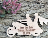 Custom Save the Date Magnet Set, Motorcycle Save The Date, Personalised Wedding Favor, Rustic Wooden Save the Date Magnet, Bridal Shower