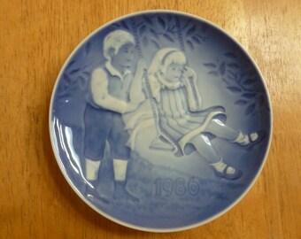 1986 Children's Day Plate Denmark Bing Grondahl