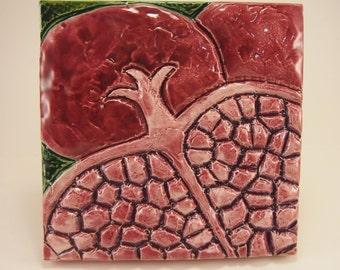 Pomegranate Relief Tile