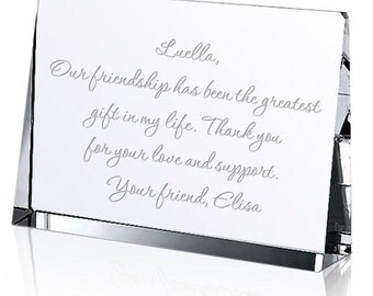 Engraved Crystal Message Keepsake
