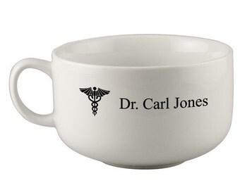 Customized Caduceus Soup Mug