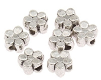 40pc 5mm antique silver finish metal spacer/ beads-4802M