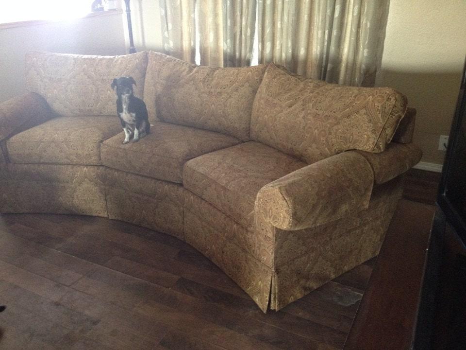 6 cushion sofa slipcover in ivory 12 oz denim