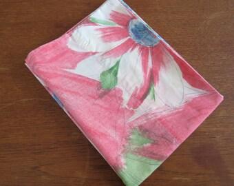 "Vintage Pillowcase - Large Pink Floral - 31"" x 20"""