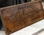 3D Personalized Family Name Sign Plaque Custom Made 8x22 Solid wood Family sign, wedding or anniversary gift JM001
