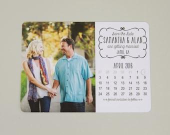 Custom Photo Calendar Save The Date Postcard: Get Started Deposit