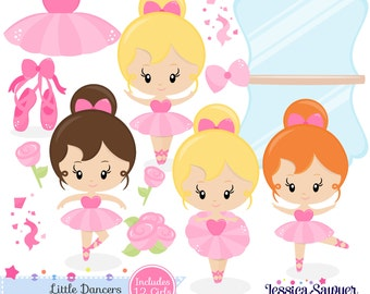 INSTANT DOWNLOAD, ballerina clipart and vectors for personal and commercial use