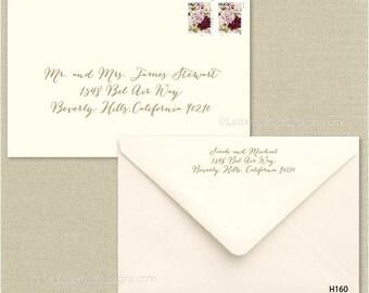 Custom Wedding Digital Calligraphy Envelope Addressing Printing Invitations - Font H160