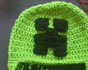 Minecraft Creeper Inspired, Minecraft Hat, Mine craft hat, newborn, adult, teen, child, photo prop